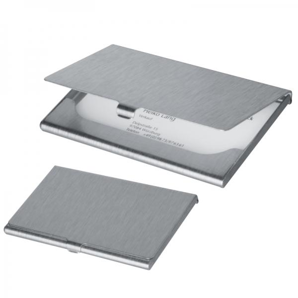 Port card aluminiu mat